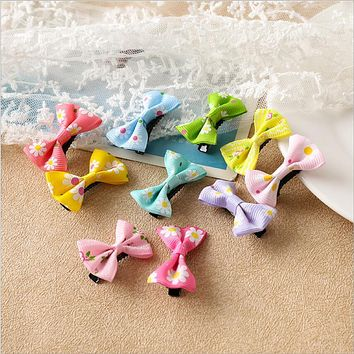 Bow Hair Accessories Candy Color Mini Sweet Solid Dot Floral Hair Clips Kids Hairpins Women Girls Headwear Butterfly