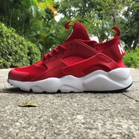 Sale Nike Air Huarache 4 Rainbow Ultra Breathe Men Women Hurache Red/White Running Sport Casual Shoes Sneakers - 117