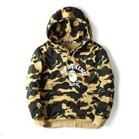 Men's Fashion Winter Camouflage Hats Couple Pullover Hoodies [429894762532]