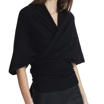 Cashmere Body Wrap Sweater