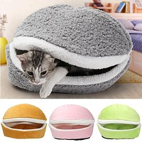 Hamburger Style Pet Bed Removable Cover for Cat or Small Dog Sleeping Bag Sofa Mat Plush Small Pet Nest Warm Kennel Cushion FREE SHIPPING