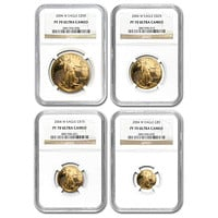 2004-W 4-Coin Proof Gold American Eagle Set PF-70 NGC