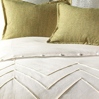 EASTERN ACCENTS FILLY WHITE BUTTON-TUFTED COMFORTER