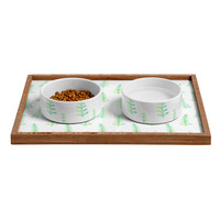 Social Proper New Woods Pet Bowl and Tray