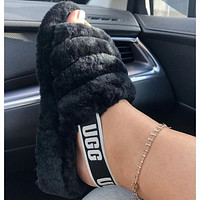 UGG hot sale classic color matching plush slippers for men and women shoes Boots