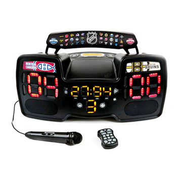 nhl portable scoreboard mp3 player boom box
