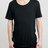 BLACK GRUNGE SCOOP T-SHIRT - Grunge Scoop T-shirts - T-shirts: New Season Fits - Clothing