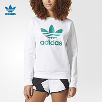 """Adidas"" Women Sport Casual Logo Letter Print Long Sleeve Sweater Pullover Sweatshirt Tops"