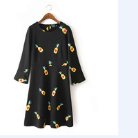 Pineapple Pattern Summer Fashion Style Lovely Women Clothing = 4697465604