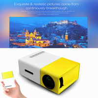 Newest YG300 LCD Projector 600LM Home Media Player MINI Projector For Video Games TV Home Theatre Movie Support HDMI AV SD