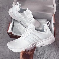 NIKE Air Presto Popular Classic Woman Men Casual Running Sneakers Sport Shoes Pure White I