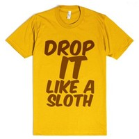 sloth-Unisex Gold T-Shirt