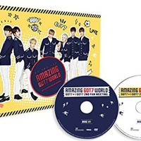 GOT7 2nd FAN MEETING DVD [AMAZING GOT7 WORLD] 2 Discs with 68p Photobook Extra Photocards Set [Store Gift]