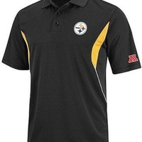 Pittsburgh Steelers NFL Team Apprel Field Classic Polo Shirt Big and Tall Size 5XL