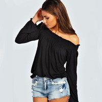 Sexy Fashion Off-The-Shoulder T-Shirt