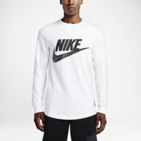 Nike Knows Men's Top Size Large (White)