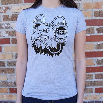 Womens Beer Eagle T-Shirt