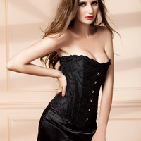 Waist Sexy Shaper Body Ladies Slim Wrap Steel Boned Palace Corset [4965284868]