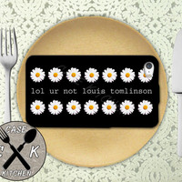 Lol Ur Not Louis Tomlinson Quote Daisy Pattern Tumblr 1D Custom Rubber Tough Phone Case For The iPhone 4 and 4s and iPhone 5 and 5s and 5c