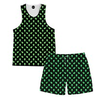 Alien Tank and Shorts Rave Outfit