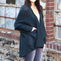 Slouchy Days Sweater Cardigan {Olive Mix}