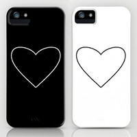 Black and White Heart iPhone Cases by MN Art | Society6