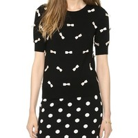 alice + olivia All Over Bow Sweater