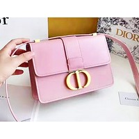 DIOR fashion casual shopping bag hot seller with monochromatic letter button shoulder bag #7