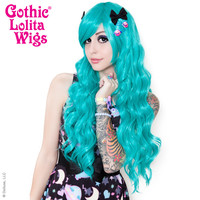 Gothic Lolita Wigs® Classic Wavy Lolita™ Collection - Teal -00047