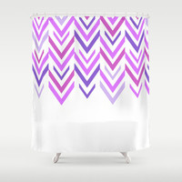 Purple Shower Curtain - Shades of Purple Arrows Bathroom Shower Curtain - Purple Arrow Art - Bathroom Decor -Purple and White -Made to Order