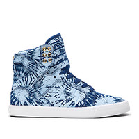 WMNS SKYTOP NAVY/BLUE WASH-WHITE   Official SUPRA Footwear Site