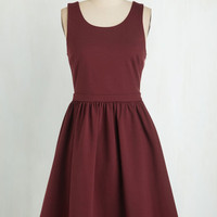 Vintage Inspired, 60s, Scholastic Mid-length Sleeveless Fit & Flare Best of Potluck Dress