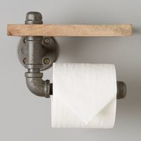 Arc & Timber Pipework Toilet Paper Holder in Cedar Size: Toilet Paper Holder Bath