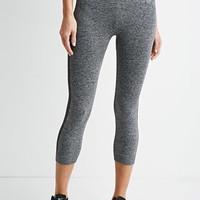 Striped Seamless Capri Leggings