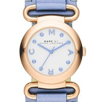 MARC BY MARC JACOBS 'Small Molly' Leather Strap Watch, 30mm