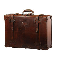 """A Handmade Chestnut Leather Suitcase, Luggage, Valise """"They'll Fight Over When You're Dead"""" (Medium)"""