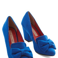 Bait Footwear Vintage Inspired Peppy Planner Heel in Blue