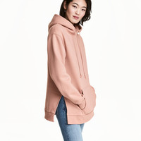 Hooded Top with Side Slits - from H&M