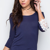 Lorette Top - Navy