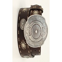 Angel Ranch Starburst Oval Concho Belt - Large Only