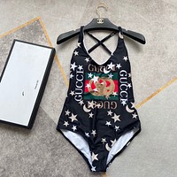 GUCCI GG Star Print One-Piece Swimsuit