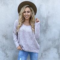 Knitted Dreams Mauve Sweater