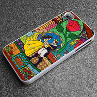 Beauty and the beast, Disney iphone 4 case, cartoon iphone case, Disney phone case, iPhone 4s case, disney iphone case, iphone 4s case,