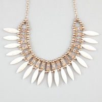 FULL TILT Marble Spike Rhinestone Statement Necklace 241912621   Necklaces