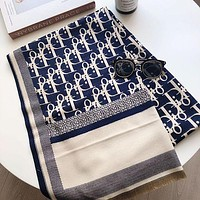 Dior new female D letter long shawl scarf