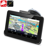 7 Inch Android 4.4 GPS Navigation - 800x480 Touchscreen, FM Transmit, 32GB Micro SD Card Support