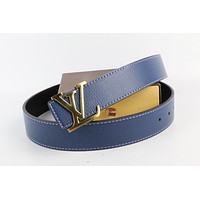 Louis Vuitton Woman Men Fashion Smooth Buckle Belt Leather Belt Skin Belts LV Beltt133