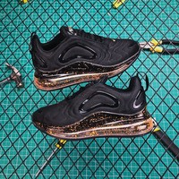 Nike Air Max 720 Black Speckle Running Shoes - Best Online Sale