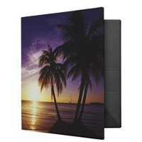 Beaches at Negril, Jamaica 3 Binder from Zazzle.com