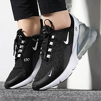 NIKE AIR MAX 270 Hot Sale Women Men Personality Air Cushion Running Sport Shoes Sneakers 5#